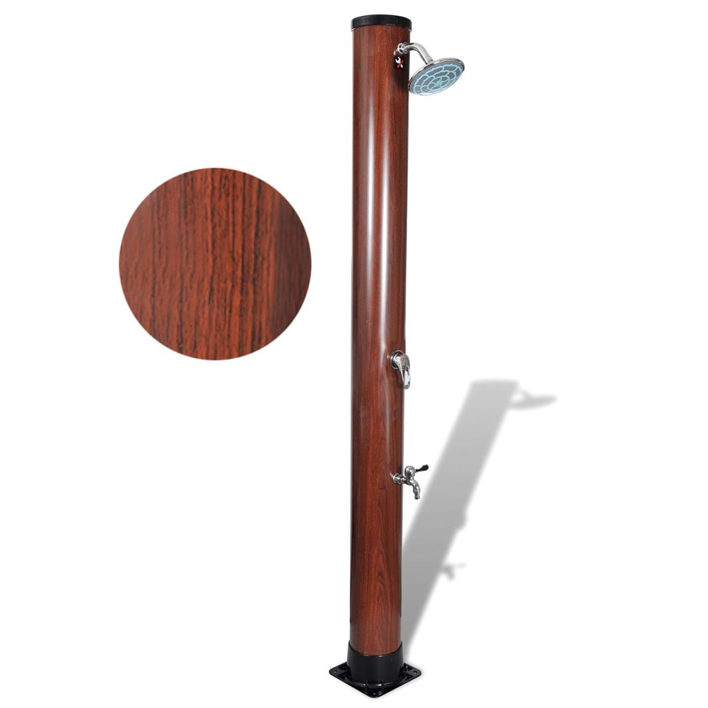 Image of 1.96 M Pool Solar Shower With Faux Wood Finish
