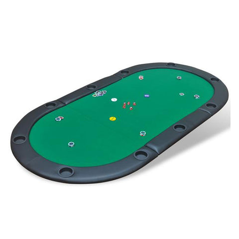 10-Player Fold-able Poker Tabletop - Green