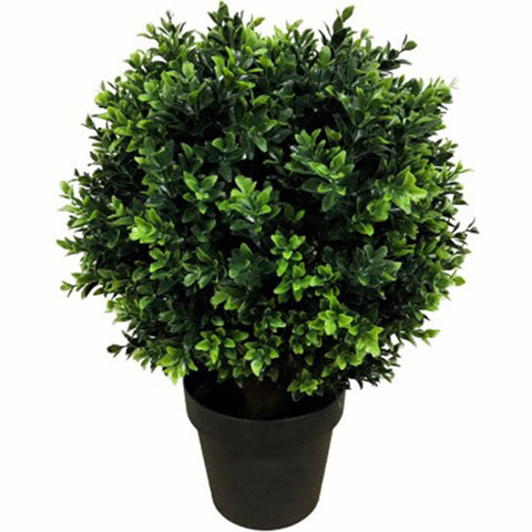 UV Resistant Artificial Topiary Shrub (Hedyotis) 50cm Mixed Green
