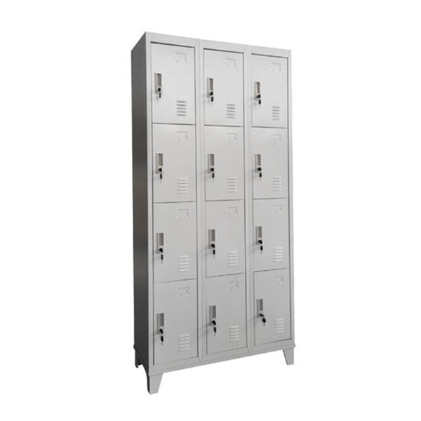12 Door Locker Light Grey