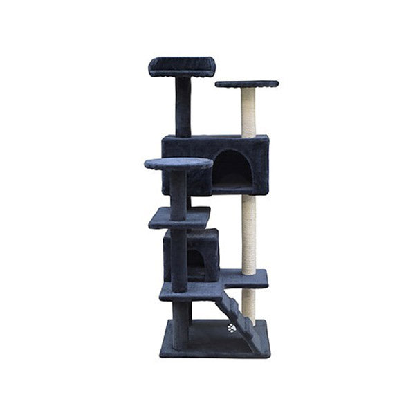 132Cm Cat Tree Post Scratcher Tower House Furniture Wood