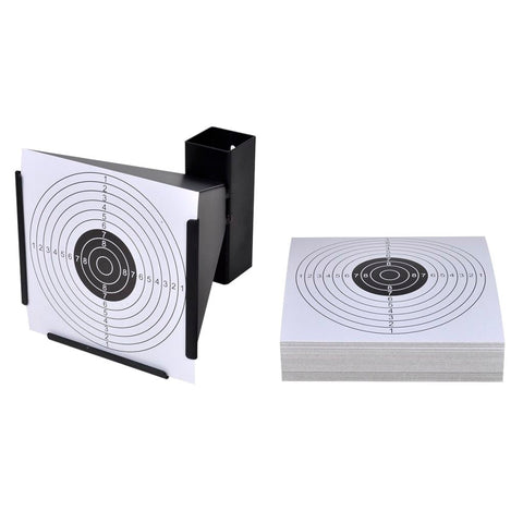 14 Cm Funnel Target Holder Pellet Trap And 100 Paper Targets