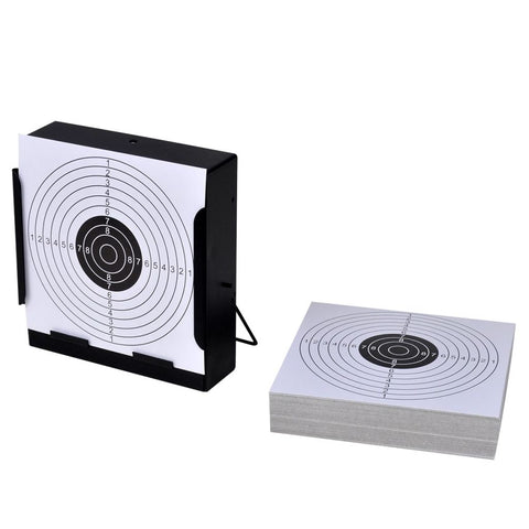 14 Cm Square Target Holder Pellet Trap And 100 Paper Targets