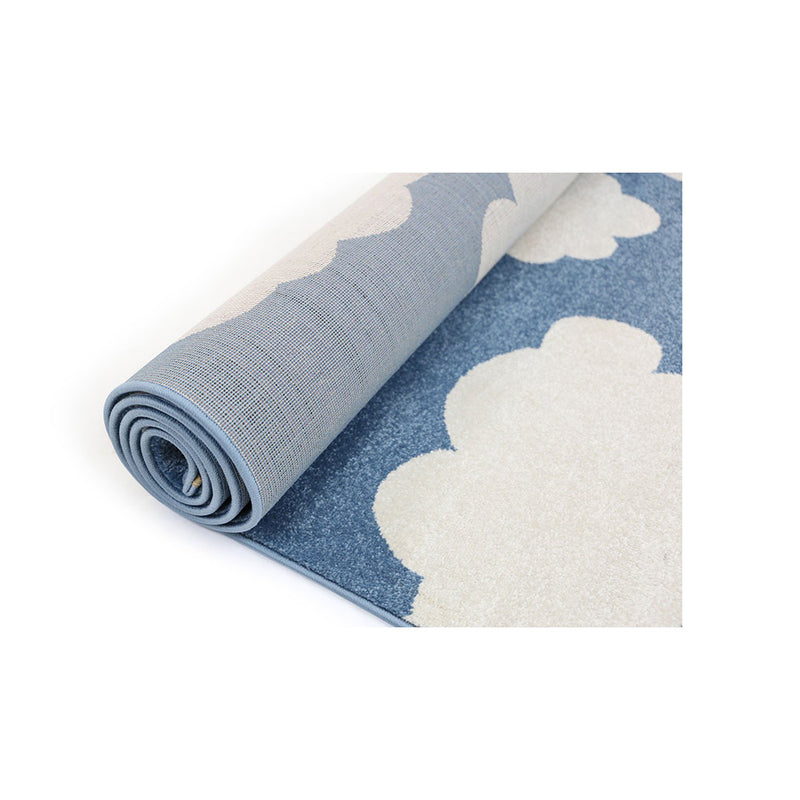 Cloud Blue White Rug Simply Wholesale