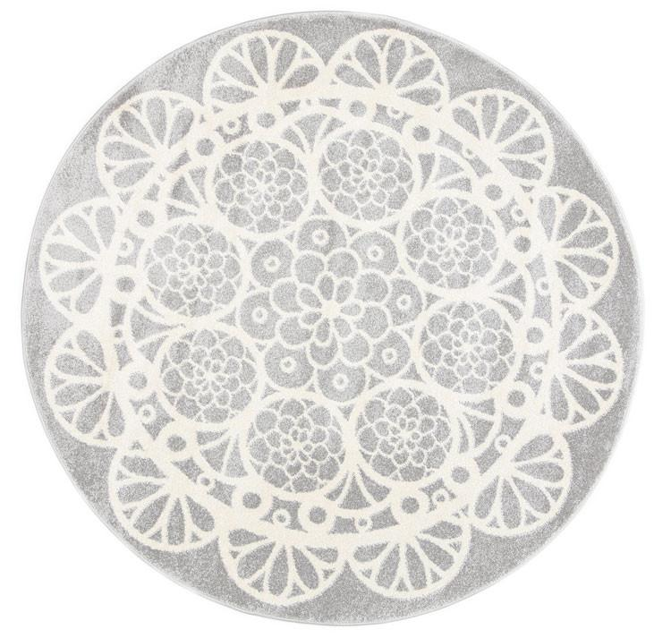 Doily Grey White Rug