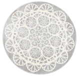 Doily Grey White