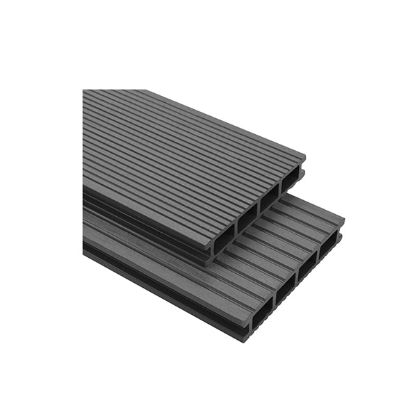 16 Pcs Decking Boards With Accessories Grey