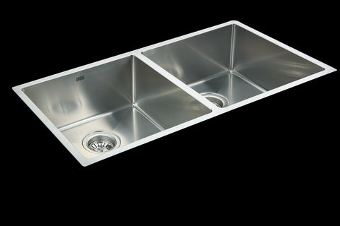 Double Square Cube Stainless Steel Sink 865 x 440mm