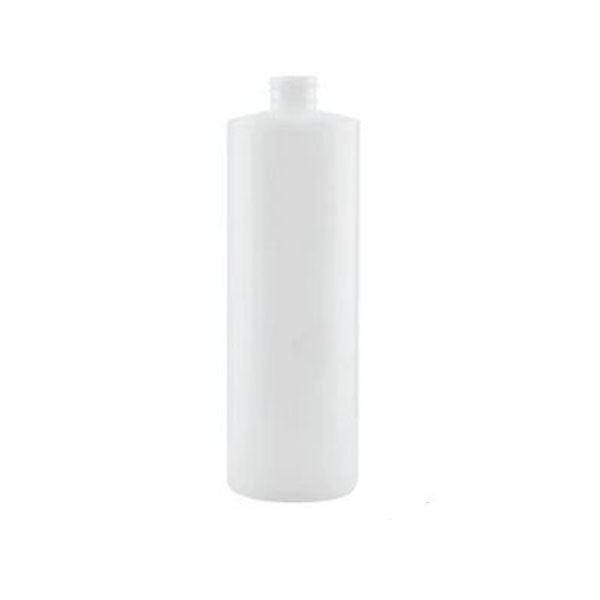 1L Hdpe Clear Round Bottle Plastic White Screw Cap Food Storage