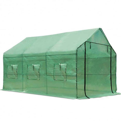 PVC Green House with Green PE Cover
