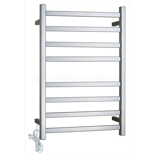 Gama Square Chrome Electric Heated Towel Rack 8 Bars