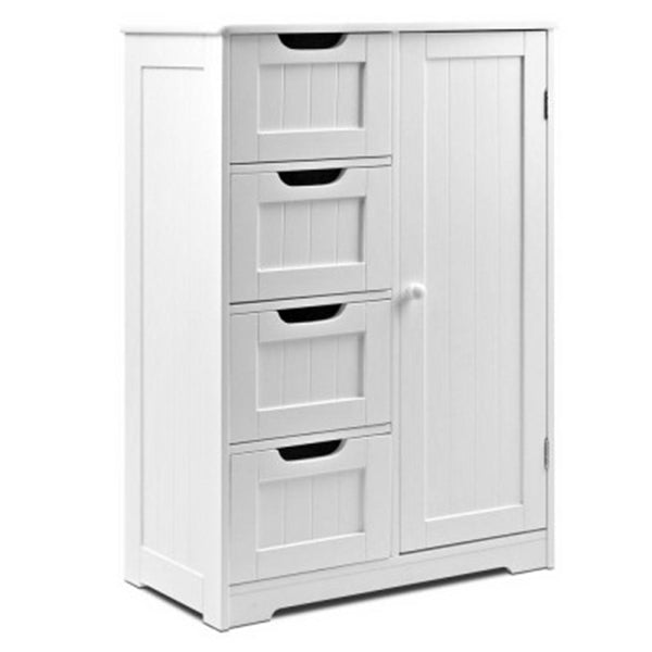 Bathroom Tallboy Storage Cabinet - White