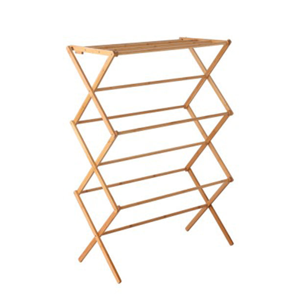 Bamboo Clothes Dry Rack Foldable Towel Hanger Laundry Drying