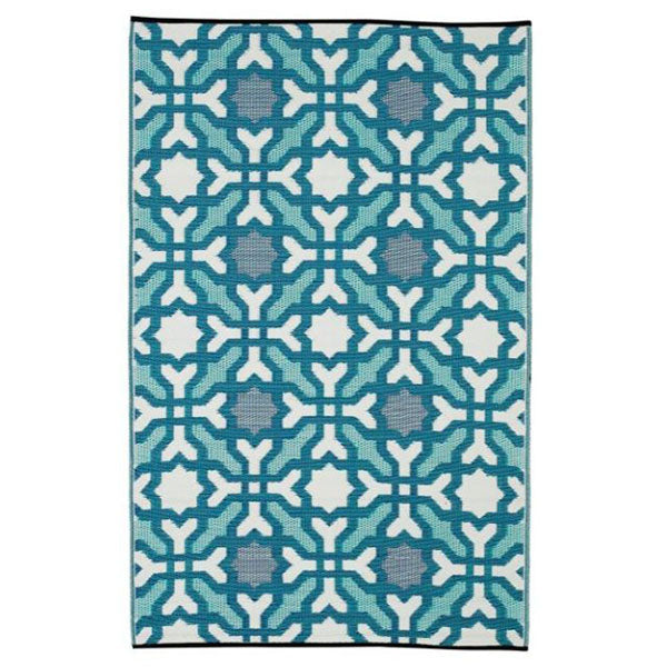 Seville Blue Recycled Plastic Outdoor Rug And Mat