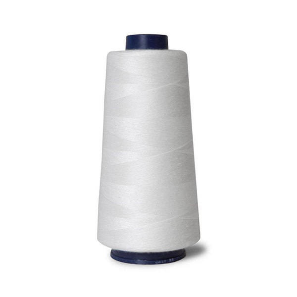 2000M Hemline Polyester White Sewing Overlocker Thread Pack