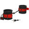 KINK Silicone Wrist Cuffs - Black/Red Restraints