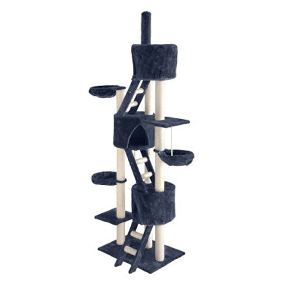 Cat Tree 244Cm Trees Scratching Post Tower Condo House Furniture Wood