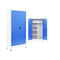 2 Doors Locker Cabinet With Metal Grey And Blue
