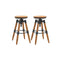 2 Pcs Bar Stools Solid Fir Wood