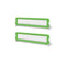 2 Pcs Toddler Safety Bed Rail Green