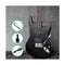 Alpha Strat Style Electirc Guitar Black with Carry Bag