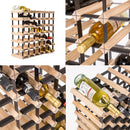 42 Bottle Pine Wood Timber Wine Rack