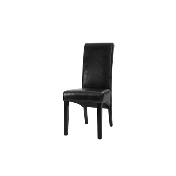 2 Pcs Dining Chairs French Provincial Kitchen Cafe Pine Wood Black