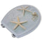 2 Pieces MDF Toilet Seats with Hard Close Lids Sea Star