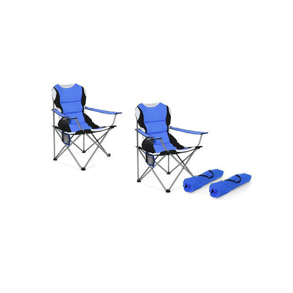 2 X Folding Camping Arm Chairs Portable