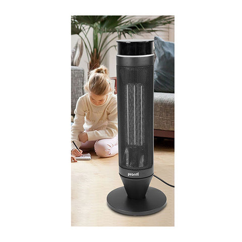 ELECTRIC TOWER HEATER 2000W REMOTE PORTABLE BLACK