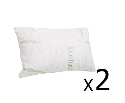 2x Shredded Memory Foam Pillow
