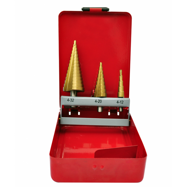 3-Piece HSS Step Drill Set