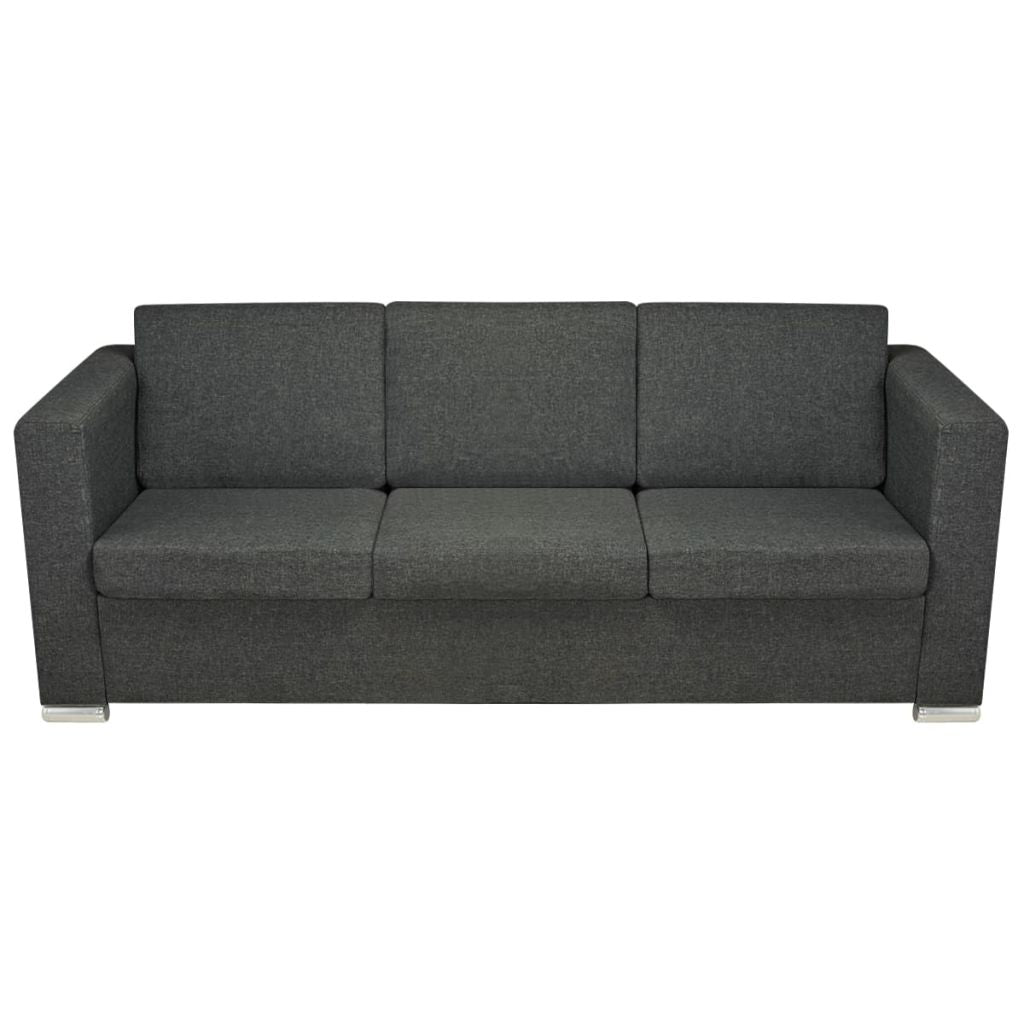 3 seater sofa fabric with wooden frame dark grey simply wholesale