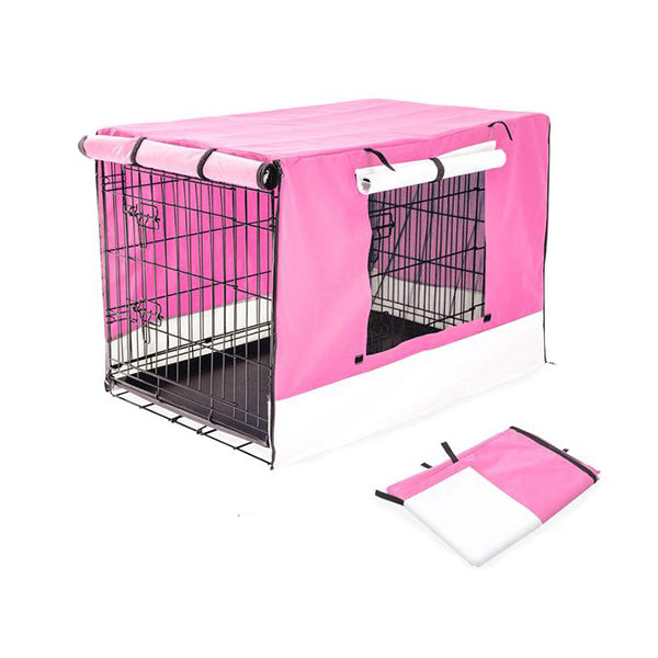 "30"" Cover for Wire Dog Cage - PINK"