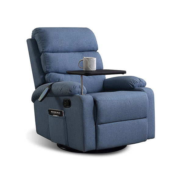 360 Swivel Massage Recliner Heated Lounge Sofa Armchair