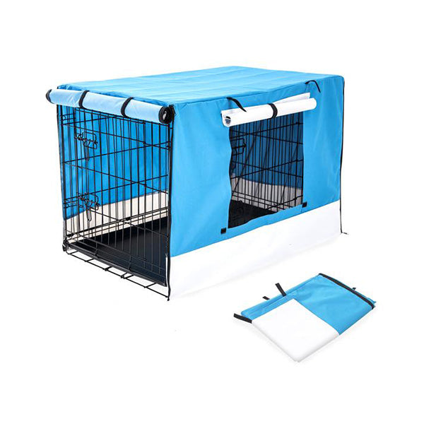 "36"" Cover for Wire Dog Cage - BLUE"