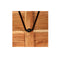 3 Pieces Solid Sheesham Wood Genuine Leather And Canvas Bar Set