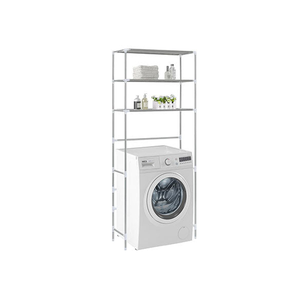 3 Tier Storage Rack Over Laundry Machine Silver