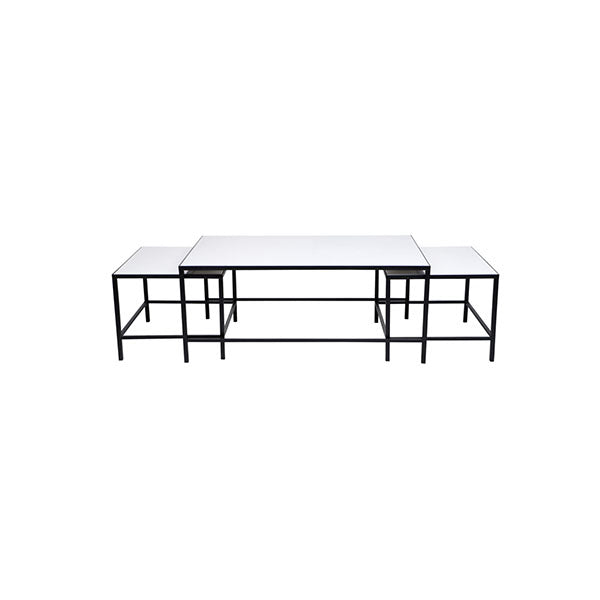 3 Pcs Cocktail Coffee Table White
