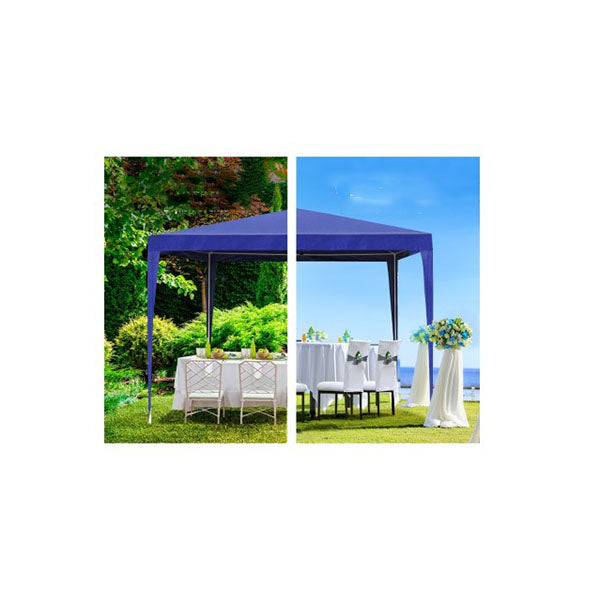 3 X 3 M Wedding Gazebo Event Marquee Shade Blue Without Panel