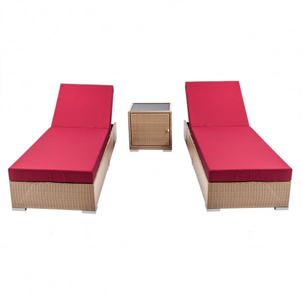 Brown Wicker 2-Seater Lounge Set