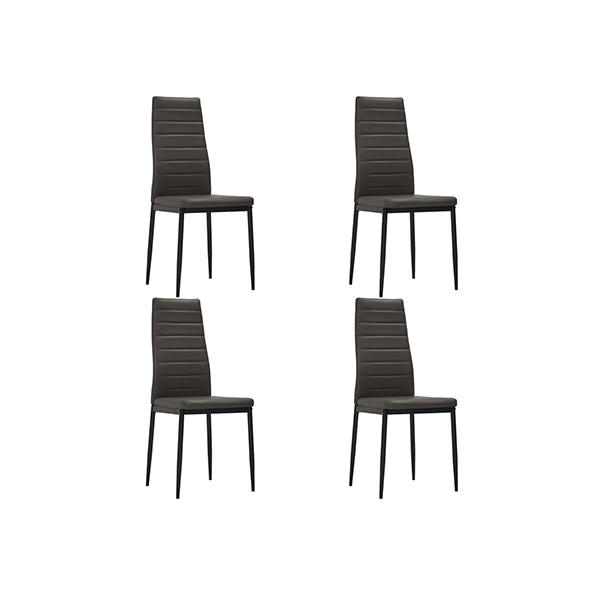 4 Pcs Dining Chairs Faux Leather