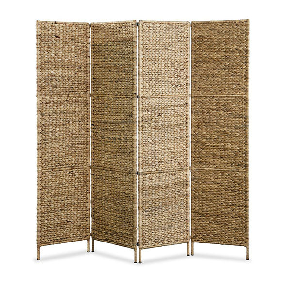 4 Panel Room Divider 160 X 160 Cm Water Hyacinth
