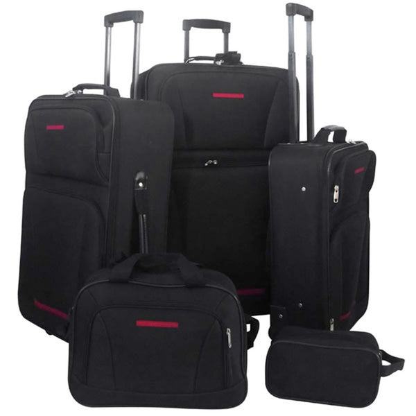 5-Piece Travel Luggage Set (Black)