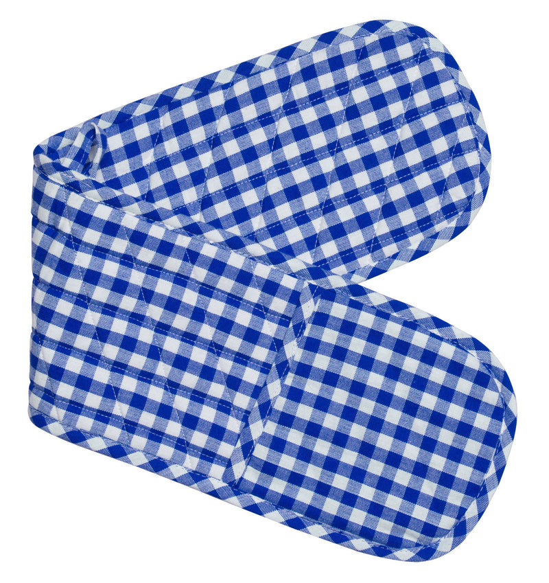 Gingham Double Mitts - Set of 4