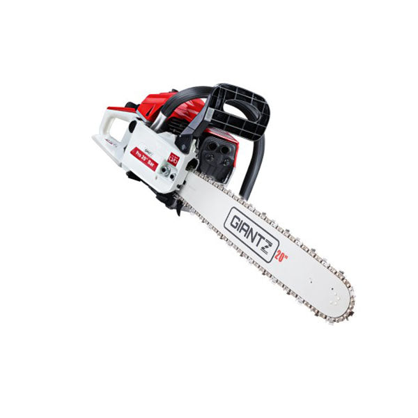 52 Cc Petrol Commercial Chainsaw Chain Saw Bar E Start Pruning