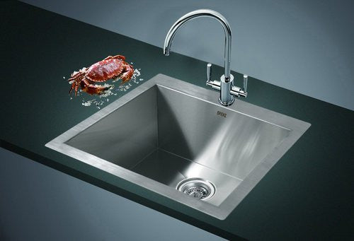 Handmade Stainless Steel Topmount Kitchen Laundry Sink with Waste