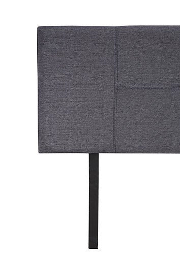 Linen Fabric Queen Bed Headboard Bedhead - Grey