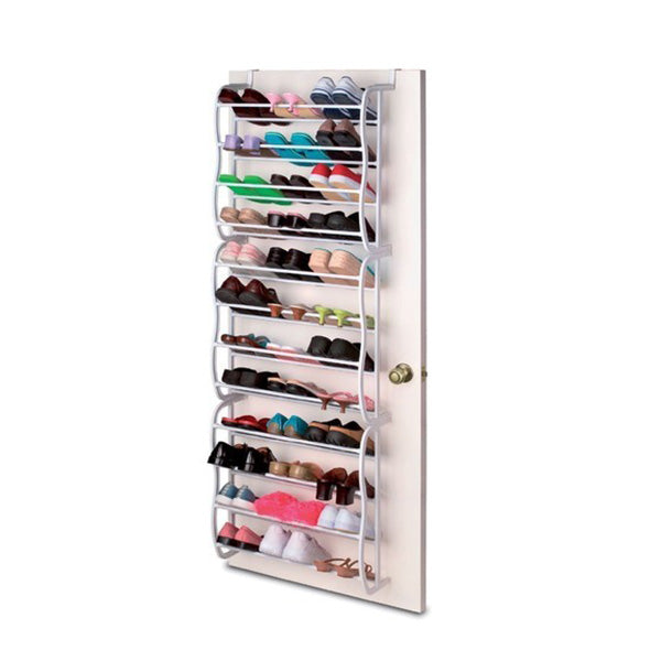 36 pair shoe holder organizer over the door hanging shelf