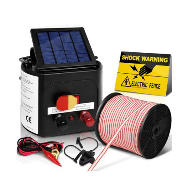 5km Solar Electric Fence Charger with 400M Tape and 25pcs Insulators